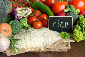 Basmati rice and vegatables
