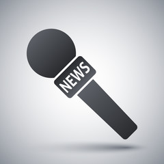 Vector news microphone icon