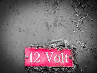 old 12 volt sign (1x)