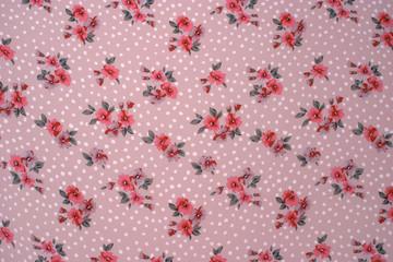 Textiler Hintergrund mit Blumenmuster