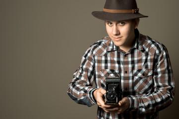 Young Photographer Retro