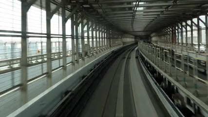 Time Lapse POV of the Tokyo Monorail System with Skyline -  Tokyo Japan