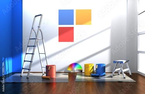 Leinwanddruck Bild paint colors