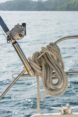 Nautical mooring rope