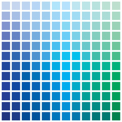Colorful series of squares or pixels in various colors