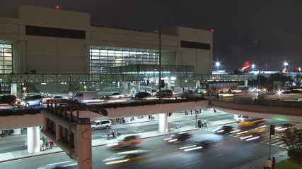 International Airport at Night - Time Lapse