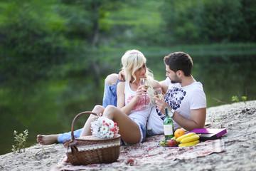 couple at a picnic