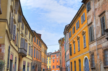 Alleyway. Piacenza. Emilia-Romagna. Italy.