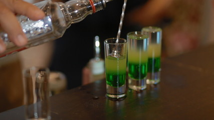 Make the cocktail green mexican