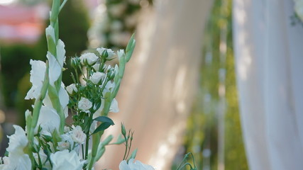 Wedding decoration of natural flowers