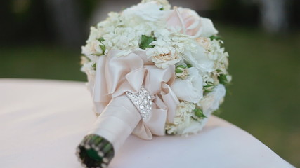Nice wedding bouquet on the table