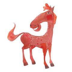 funny cartoon horse