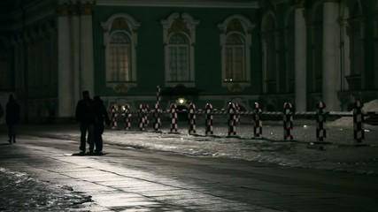 dark night walk in the city