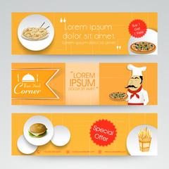 Website header or banner set for Fast Food Corner.
