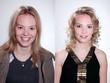 Junge Frau vor und nach Visagistik Make-Up