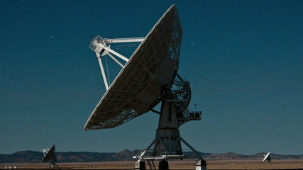 Very Large Array Space Radio Dish  VLA Observatories - Time Lapse