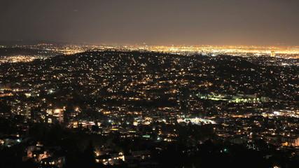 Panning Time Lapse of San Francisco Grid at Night