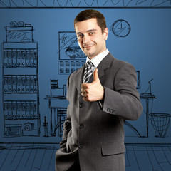 Business Man Shows Well Done
