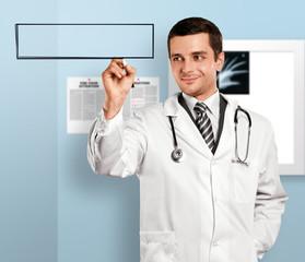 Doctor Man Writing Something