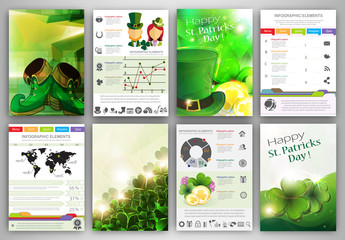 St. Patrick's Day Infographic template backgrounds