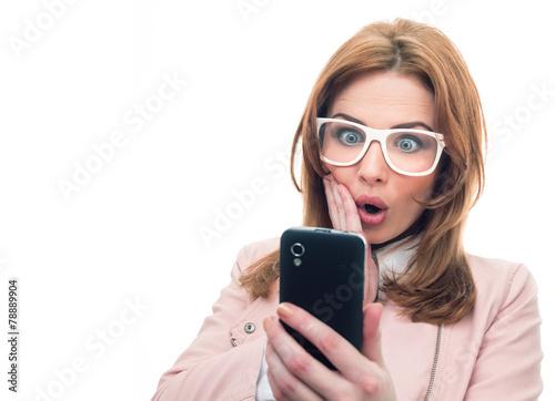 Trendy woman on phone - 78889904