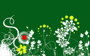 fond vert pur