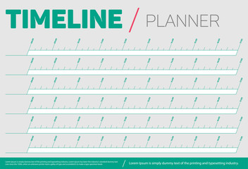 Timeline and Planner Template