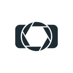 Camera, simple concept logo.