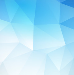 Blue Abstract Triangular background. Vector illustration