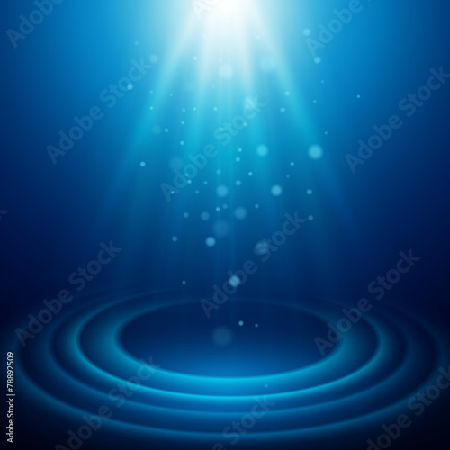 Fotobehang Licht, schaduw Background with rays of light. Vector illustration