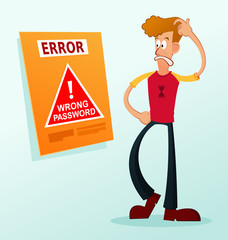 get confused receive an error password message