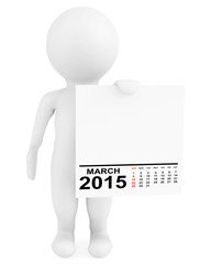 Character holding calendar March 2015