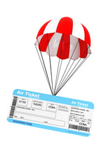 Air Ticket with Parachute