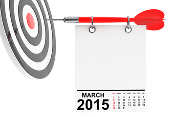 Calendar March 2015 with target