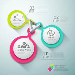 Colorful Circle connection step infographics