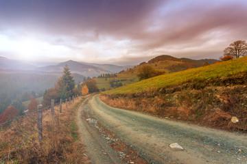 Morning in Carpathians mountain