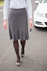 Elegant businesswoman in suit