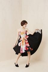 Beautiful woman in dress