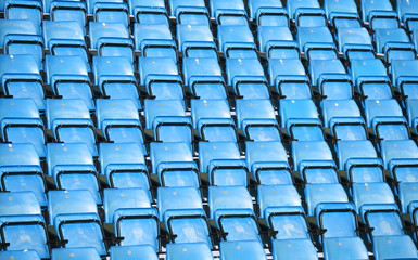 Spectators seats at a stadium