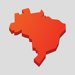 Red Brazil map