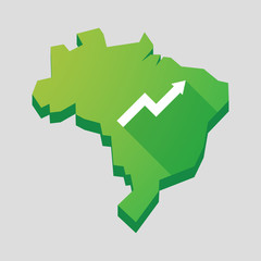 Green Brazil map with a graph
