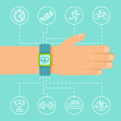 Vector fitness app and tracker on the wrist