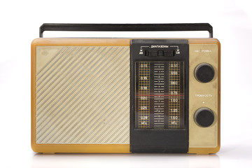 old dirty dusty radio receiver