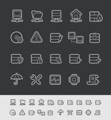Server Icons -- Black Line Series