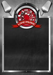 Live Music and Food - Menu Design