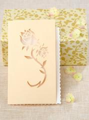 card kirigami Rose