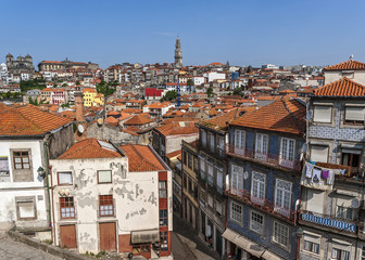 Portugal, Porto . View of the living quarters of the old city