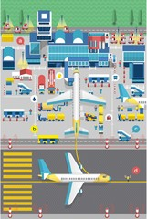 Vector background with airport