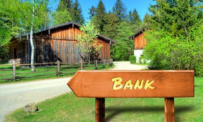 Strassenschild 32 - Bank