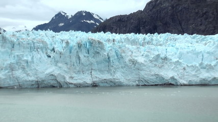Margerie Glacier With The Backdrop Of Grand Pacific Glacier